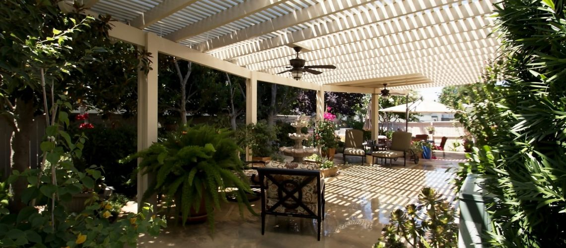 Lattice patio cover by pacific builders